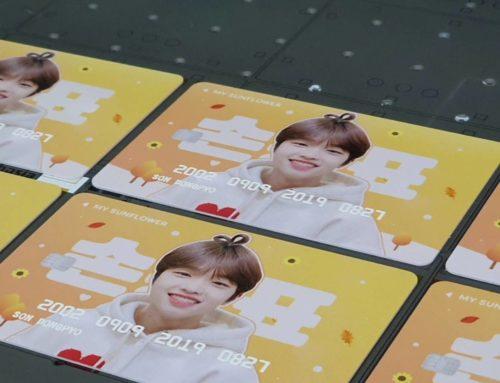 พิมพ์ UV บัตรpvc ศิลปินเกาหลี